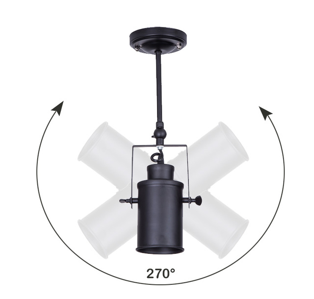 Black Industrial style Vintage led ceiling lights E27/E26 led ceiling Lamp fixture for Living Room dining hall