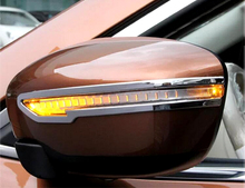 2 ABS Plstic Chrome Trim Rubbing Strip Rearview Mirror Cover Exterior Accessories Car styling For