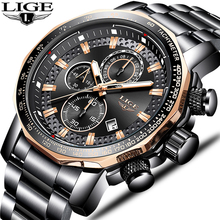 LIGE Japanese Movement Watches Mens Fash