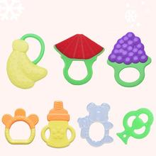Baby silicone teether Fruit and Vegetable Shape teething toys Silicone Brand