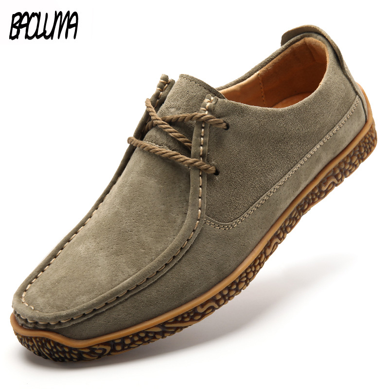 Brand Autumn Men Casual Shoes Breathable Mens Flats Lace-Up Shoes Slip On Simple Oxford Male Shoe Soft Bottom Large Sizes