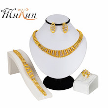 MUKUN African Beads Jewelry Set Crystal Costume Nigerian Wedding Jewelry Sets For Women Vintage Charms Gold Color Necklace Set цена в Москве и Питере