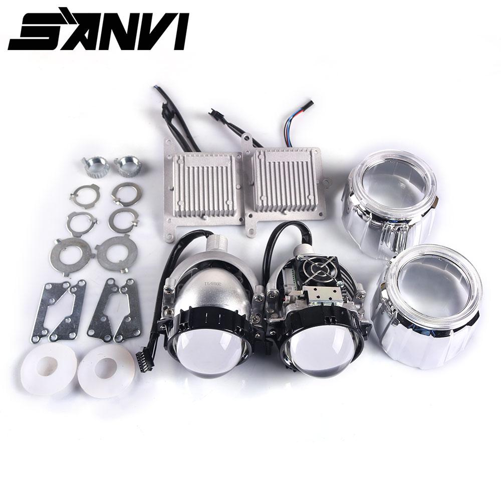 Sanvi 2.5 Inches Auto Bi LED Projector LENS Headlight 35W 5000K LED Auto Headlamp Motorcycle Headlight