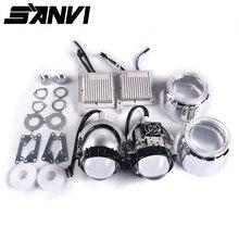 Sanvi 3 סנטימטרים אוטומטי Bi LED מקרן עדשת פנס 35W 5000K LED אוטומטי פנס אופנוע פנס