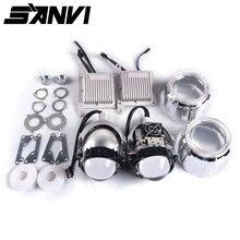 Sanvi 3inches Auto Bi LED Projector LENS Headlight 35W 5000K LED auto Headlamp Motorcycle headlight