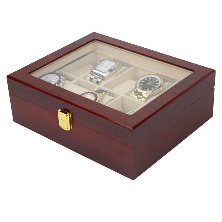 럭셔리 10 슬롯 남성 및 여성 나무 광택 래커 시계 - 시계 액세서리 - 사진 2