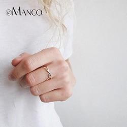 Tardoo 925 серебро Для женщин Кольца Мода минималистский c Форма открытым крест манжеты Регулируемые кольца простые украшения