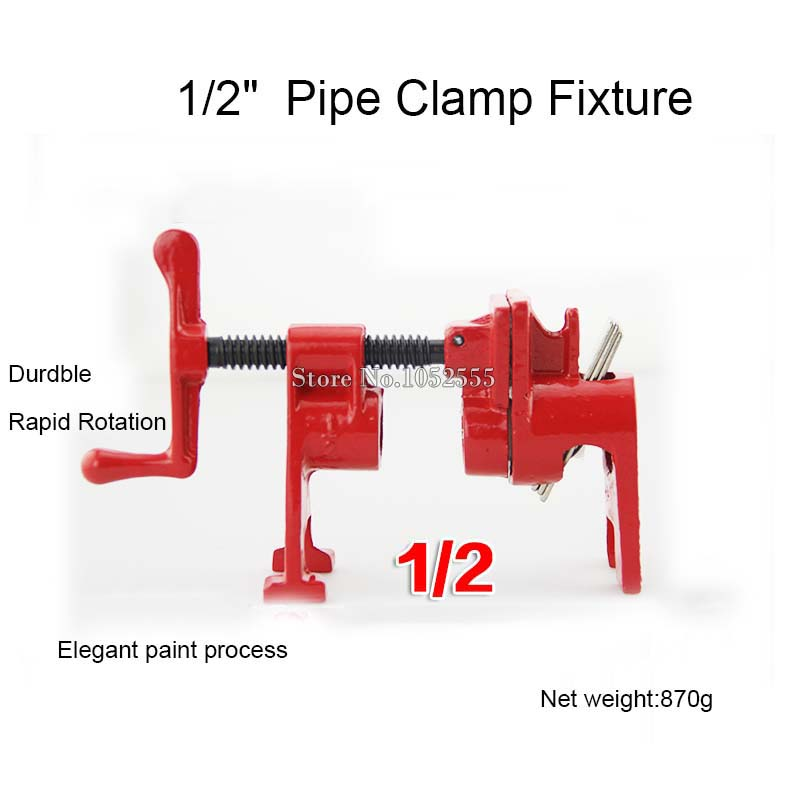 Brand New 1/2 or 3/4 H Style Pipe Clamp Heavy Duty Woodworking Cast Profesional Tools
