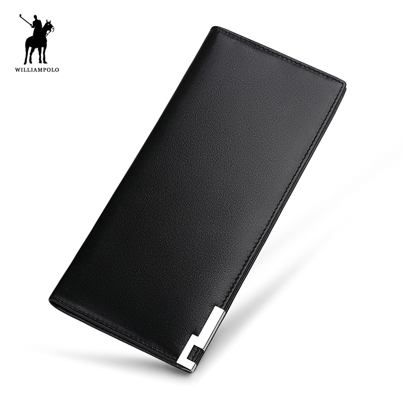 WILLIAMPOLO Ultra Thin Men s Wallat Genuine Leather Card Holder Carteiras Purse PL241