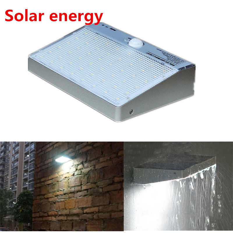 2016 new arrival leds movido a energia solar motion sensor lampada luz de rua ao ar