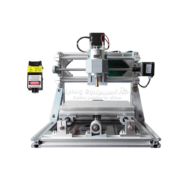 New Mini CNC 1610 500mw laser head CNC engraving machine Pcb Milling router diy mini cnc router with GRBL control mini cnc router with 500mw laser head pcb milling machine work area 240 170 65mm