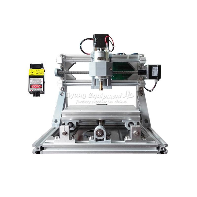 Nouvelle Mini CNC 1610 500 mw tête laser CNC machine de gravure Pcb Fraisage routeur diy mini cnc routeur avec GRBL contrôle