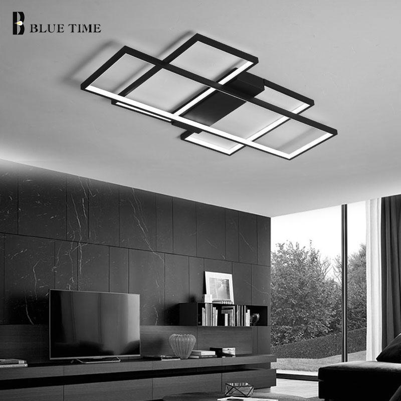 Modern Led Chandelier For Living Room Dining Room Bedroom LED Lustres Black&White Lamp Led Ceiling Chandelier Lighting Fixtures