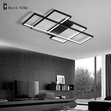 Modern Led Chandelier For Living Room Dining Room Bedroom LED Lustres Black&White Lamp Led Ceiling Chandelier Lighting Fixtures acrylic thick modern white black led ceiling chandelier lights for living room bedroom dining room chandelier lamp fixtures