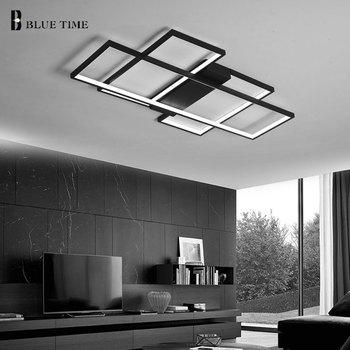 Modern Led Chandelier For Living Room Dining Bedroom LED Lustres Black&White Lamp Ceiling Lighting Fixtures