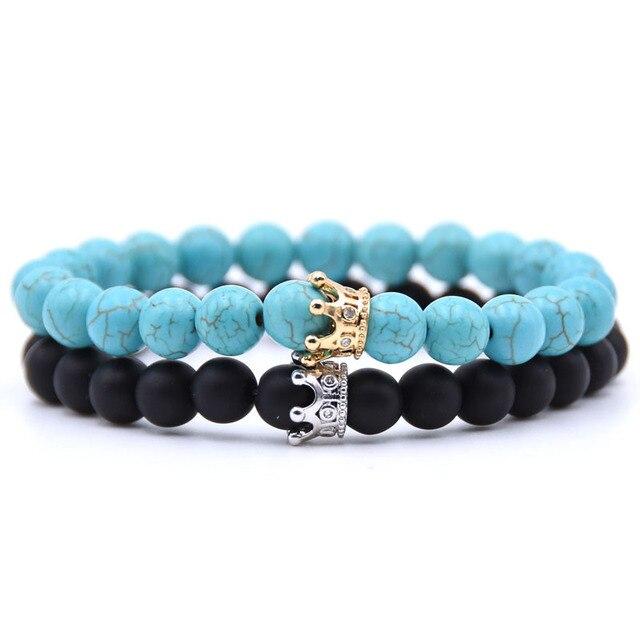 Bracelet distance couronne bleu