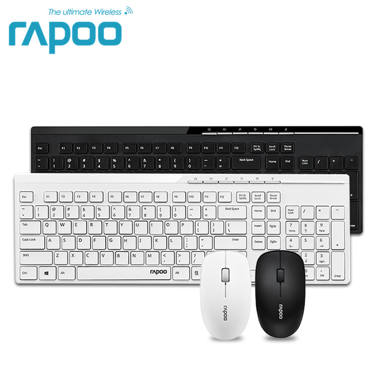 лучшая цена Original Rapoo X8100 2.4G Wireless Optical Keyboard and Mouse Combos for Lenovo Macbook Computer Laptop