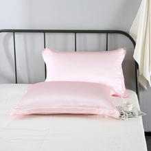 3CM Edge Silk Pillowcase 100% Pure Mulberry Double face Pillow Cover