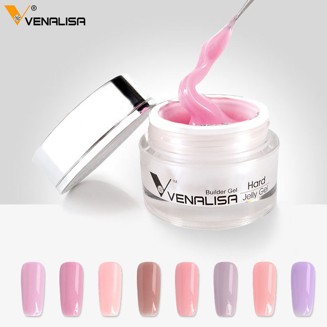 #60915 Venalisa Hard POLY Gel Fast Dry Led&UV Extend Sculpture 15ml Hard Jelly Gel 24 Colors Camouflage thick Jelly nail gel