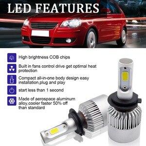 Image 4 - Safego 2pcs H7 H8 H9 H11 9005 HB3 9006 HB4 COB LED רכב פנס נורות Hi Lo קרן אוטומטי ערפל אור מנורת 8000LM 6500K 12v 24v