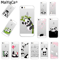 MaiYaCa Cute Animal Panda Soft TPU silicone Phone Case Cover Fundas For iPhone 8 XS XR XS MAX 5s 6 6s 7plus 6plus 7plus case