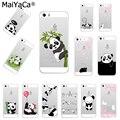 MaiYaCa lindo Animal Panda suave TPU funda de teléfono de silicona funda para iPhone 8 XS XR XS MAX 5S 6 6 s 7 plus 6 plus 7 plus funda
