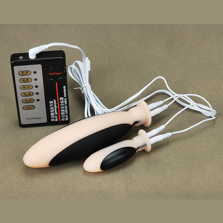 Electric Shock Pulse Therapy Orgasm Masturbation Double -7170