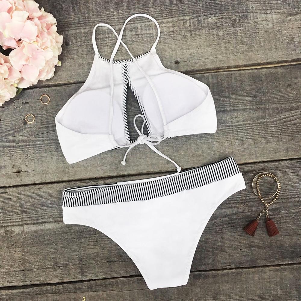 HTB1A AbPmzqK1RjSZFpq6ykSXXaf CUPSHE Dark Blue Halter Bikini Set Women Cutout Backless Crop Top Two Pieces Swimwear 2019 Girl Beach Bathing Suits Swimsuits