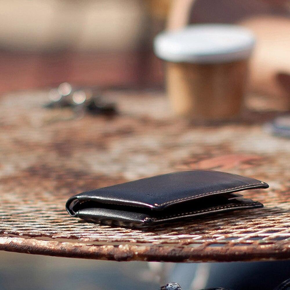 Australia Brand RFID slim vegetable Leather Bag for Men Invisible SD Card Slot Sleeve Note Purse Bellroy Short Wallet