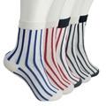 Kha Zix Pack of 5 Pairs Striped High Qaulity Cotton Chaussette Femme 3D Socks Art Socks 10030