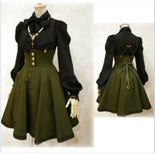 f6178ffa0 Mujeres Medieval renacentista vestido Retro Cosplay disfraz vestido largo  Lseeve Maxi vendaje vestidos nueva moda S-2XL (solo ve.