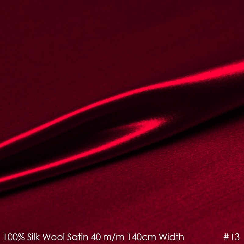 SILK WOOL SATIN 140cm width 40mm/28%Silk+72%Wool Satin Fabric for Sewing Suits Set Factory Direct Sale-No.13 Wine RedSILK WOOL SATIN 140cm width 40mm/28%Silk+72%Wool Satin Fabric for Sewing Suits Set Factory Direct Sale-No.13 Wine Red