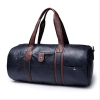 Top Large Capacity Outdoor Bags Men S Sports Bag PU Leather Duffel Bag Multifunction Portable Travel
