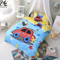 Lanskaya Let S Go Car 100 Cotton Reactive Printing Printed Cartoon Children Beds Sheet Pillowcase Duvet