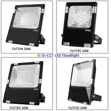FUTT02 Miboxer 10W/20W/30W/50W RGB+CCT LED Flood light IP65 Waterproof Outdoor Lighting For Garden AC86-265V