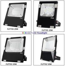 цена на FUTT02 Miboxer 10W/20W/30W/50W RGB+CCT LED Flood light IP65 Waterproof Outdoor Lighting For Garden AC86-265V