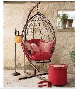 Fashion Iron Rocking Chair Swing Chaise Lounge Hanging Indoor Outdoor Diaolan Park