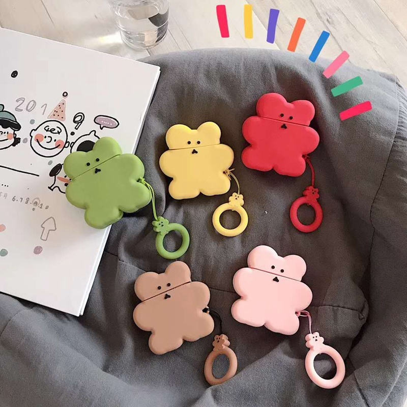 Applicable For AirPod Bluetooth Headset Set Cookie Snowman Cartoon Cute Silicone Case for AirPods 1:1 Headphone Ring Accessories