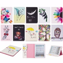 Elephant owl Cover For iPad 234, Lucury PU Leather Smart Stand Shell Tablet Case For ipad 4 2 3,9.7 inch with Auto Wake Up/Sleep