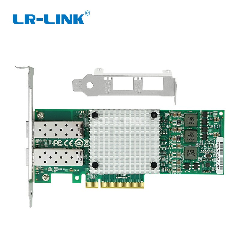 Image 2 - LR LINK 9812AF 2SFP+ dual port 10Gb ethernet fiber optical network Card PCI Express x8 Network adapter server lan nic-in Network Cards from Computer & Office