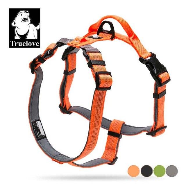 Truelove النيوبرين مبطن كلب الجسم تسخير مع مقبض حزام الأمن حزام الكلب الصدر طوق الحيوانات الكلب الاكسسوارات دروبشيب