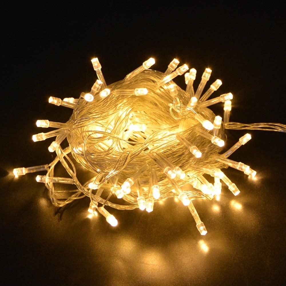 1Pack RGB 10M 100 LEDs String lighting Christmas/Wedding/Party/Festival Decoration Holiday LED Strip light Waterproof 110V/220V все цены
