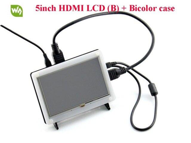 2 шт./лот 5 дюймов HDMI LCD B) 800*480 С Сенсорным Экраном ЖК-Дисплей Модуль для Raspberry Pi B/A +/B +/2B/3B Banana Pro с Биколор Случае