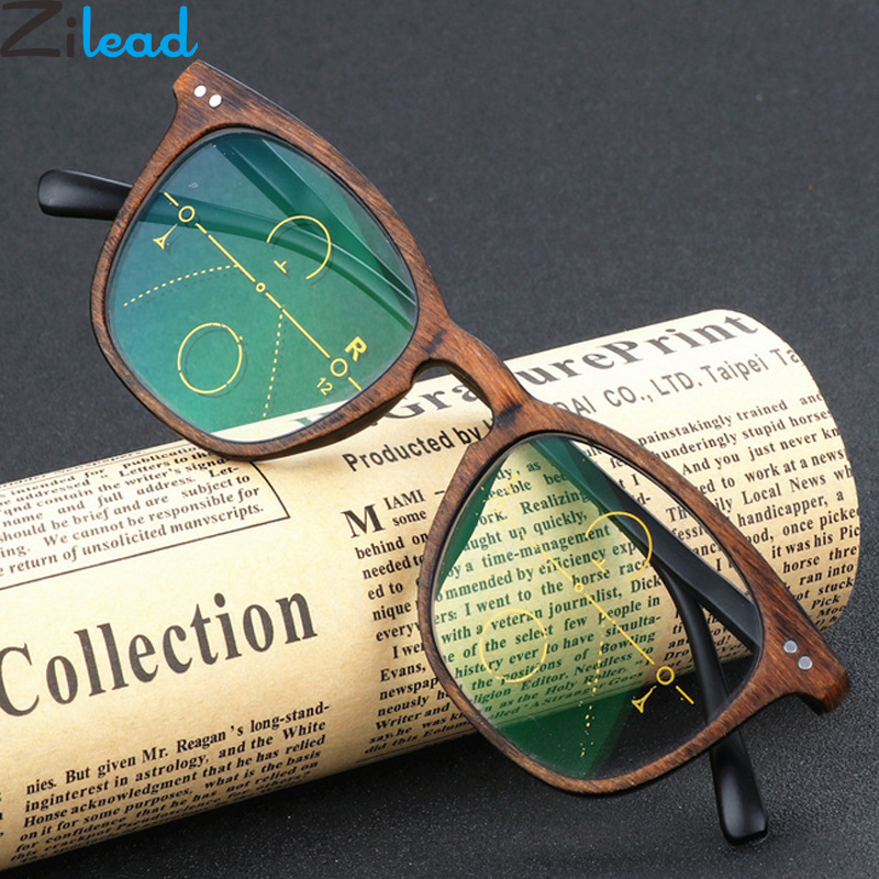 Zilead Imitation Wood Plastic Reading Glasses Women&Men Resin HD Presbyopia Glasses Unisex Diopter+1.0+1.5+2.0+2.5+3.0+3.5 +4.0