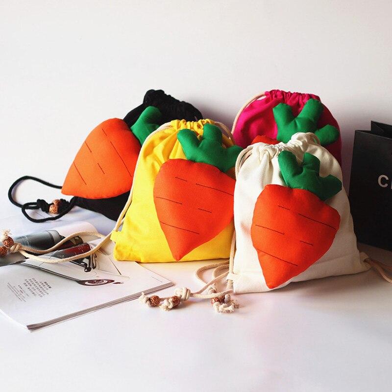 Kid Toddler Kids Child Mini Carrot Drawstring Bags Lovely Bag Gifts