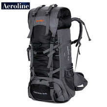 Aeroline Brands Export Single Bag Outdoor Travel Sport Backpack Hiking Climbing Bags Suit Waterproof Suspension Bracket 85L+5L цена и фото