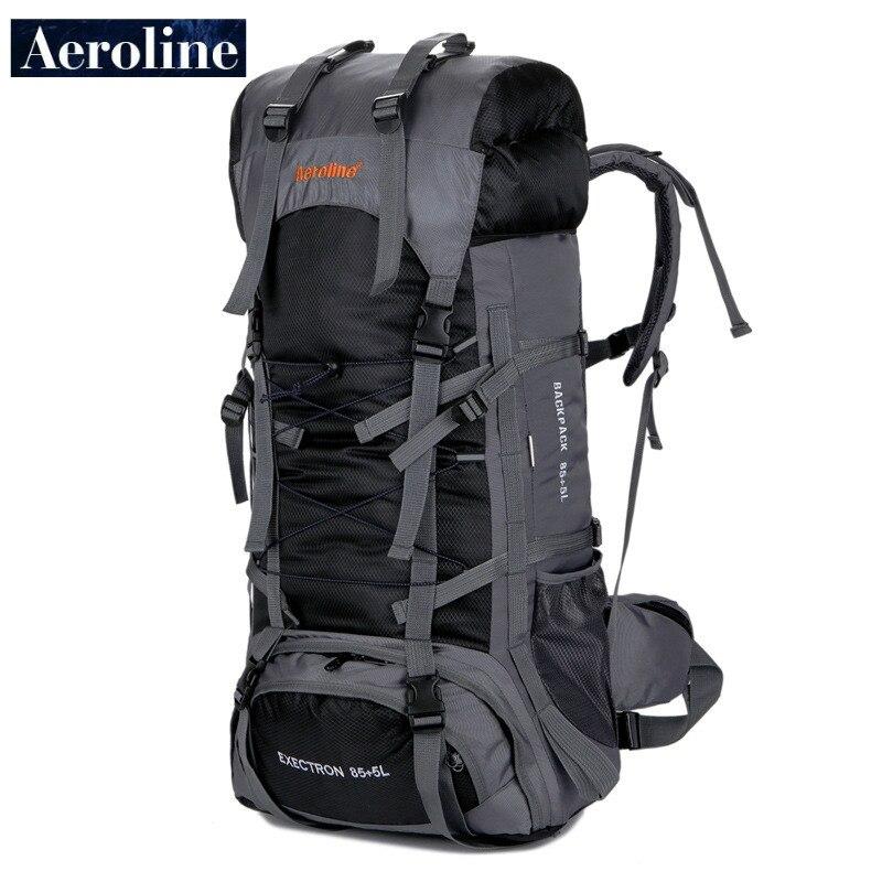 Mochila deportiva de viaje al aire libre de una sola bolsa de exportación de la marca Aeroline mochila de Montañismo mochila impermeable envío gratis 85 + 5L