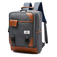 2016 Men Canvas desiger Laptop Backpack College Student School Backpack Bags For Teenage Boy Girls Vintage Mochila Rucksack fashion brand 2016 canvas backpacks laptop rucksack men travel student school bags for teenage girls mochila bolsa feminina
