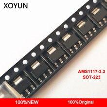 50 peças/lote AMS1117-3.3 AMS1117 3.3 AMS1117-3.3V SOT-223 Novo e origina