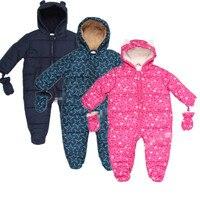 New Baby Autumn Winter Romper Padded One Piece Children Kids Jumpsuit 6months 2Years Baby Winter Overalls
